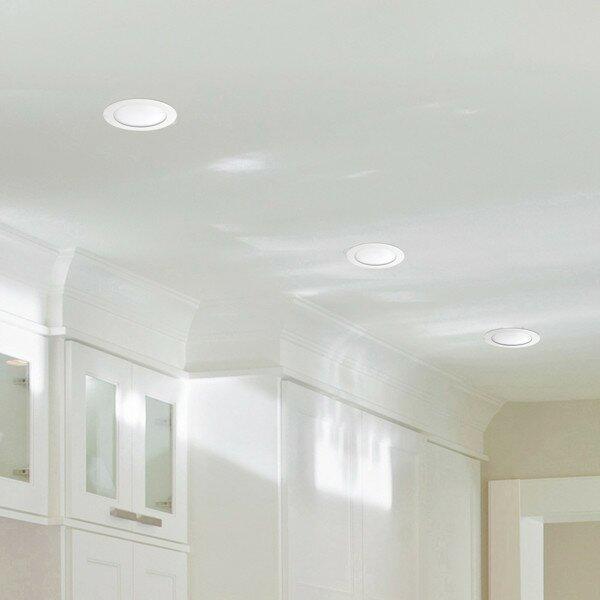 Globe electric company white ultra slim 6 led recessed lighting kit white ultra slim 6 led recessed lighting kit mozeypictures Images