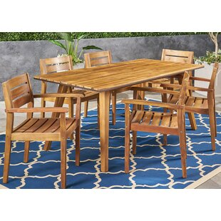 Britt 7 Piece Teak Dining Set