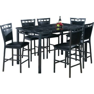 Best Quality Furniture 7 Piece Counter Height Dining Table Set