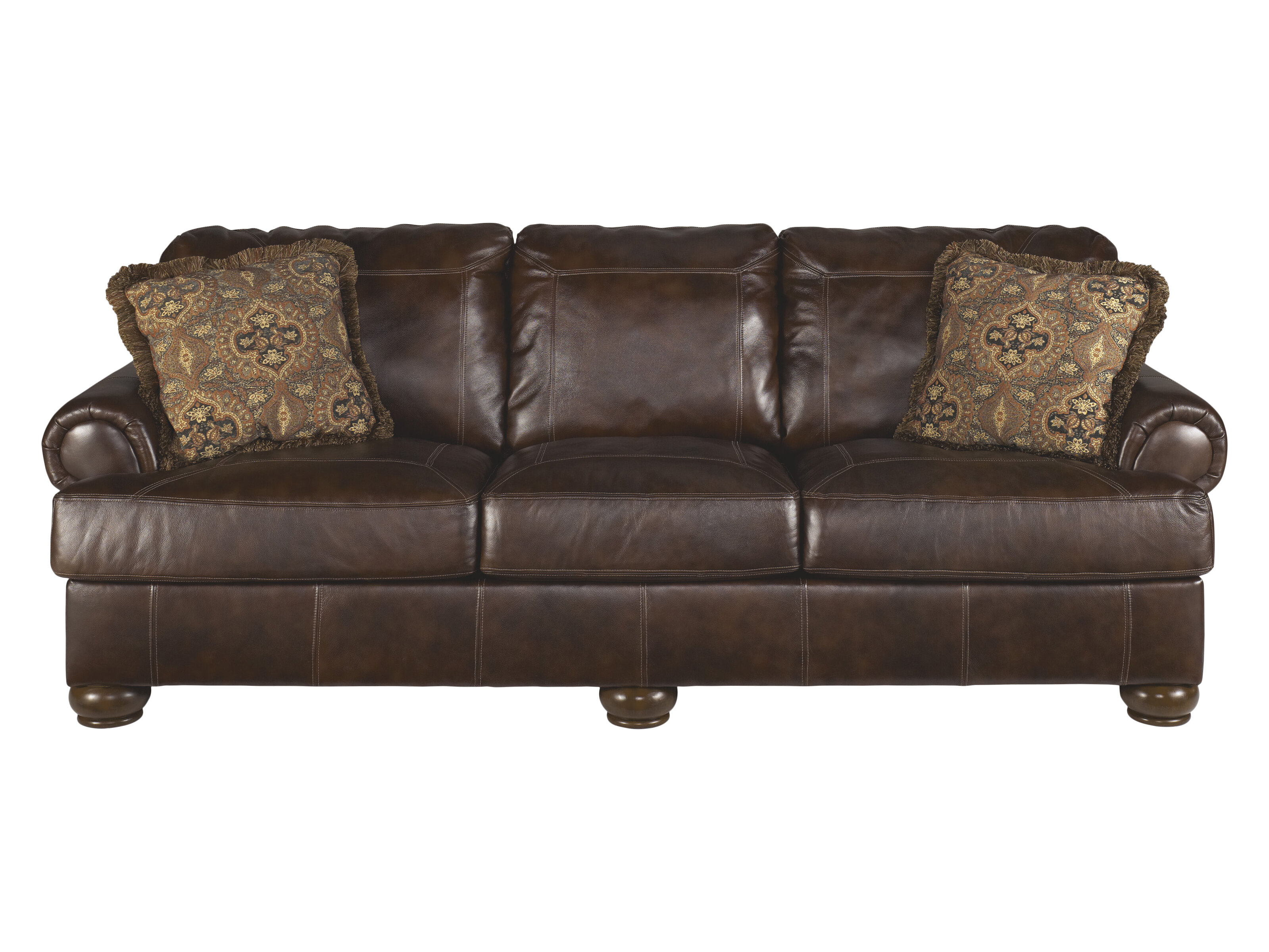 Darby Home Co Bannister Leather Sofa U0026 Reviews   Wayfair