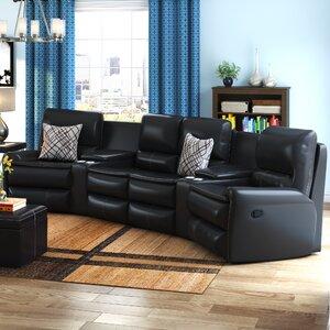 Admirable Latitude Run Yonkers Leather Reclining Sectional Domun Sakmon Short Links Chair Design For Home Short Linksinfo