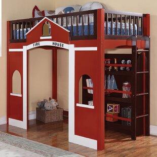 Gregor Loft Twin Slat Bed with Bookshelf