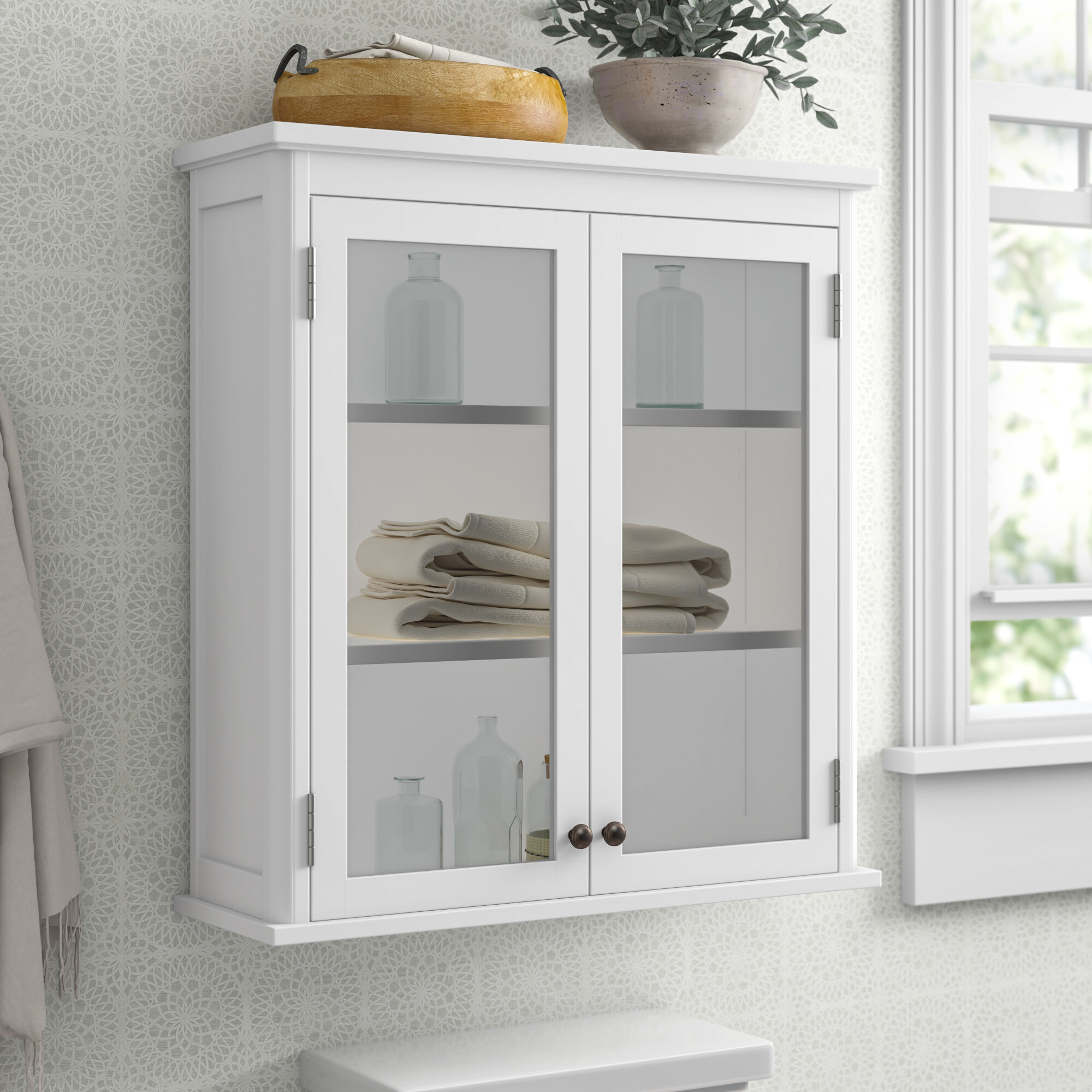 Picture of: Amett 27 W X 29 H Wall Mounted Bath Storage Cabinet Reviews