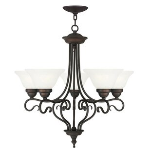 Price comparison Lewisboro 5-Light Shaded Chandelier By Darby Home Co