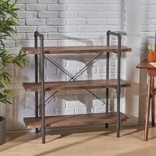 Monahan Faux Wood 3 Tier Etagere Bookcase