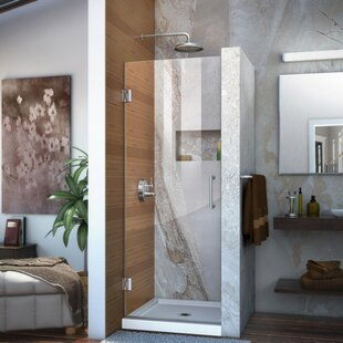Unidoor 29 x 72 Hinged Frameless Shower Door with Clearmax? Technology by DreamLine