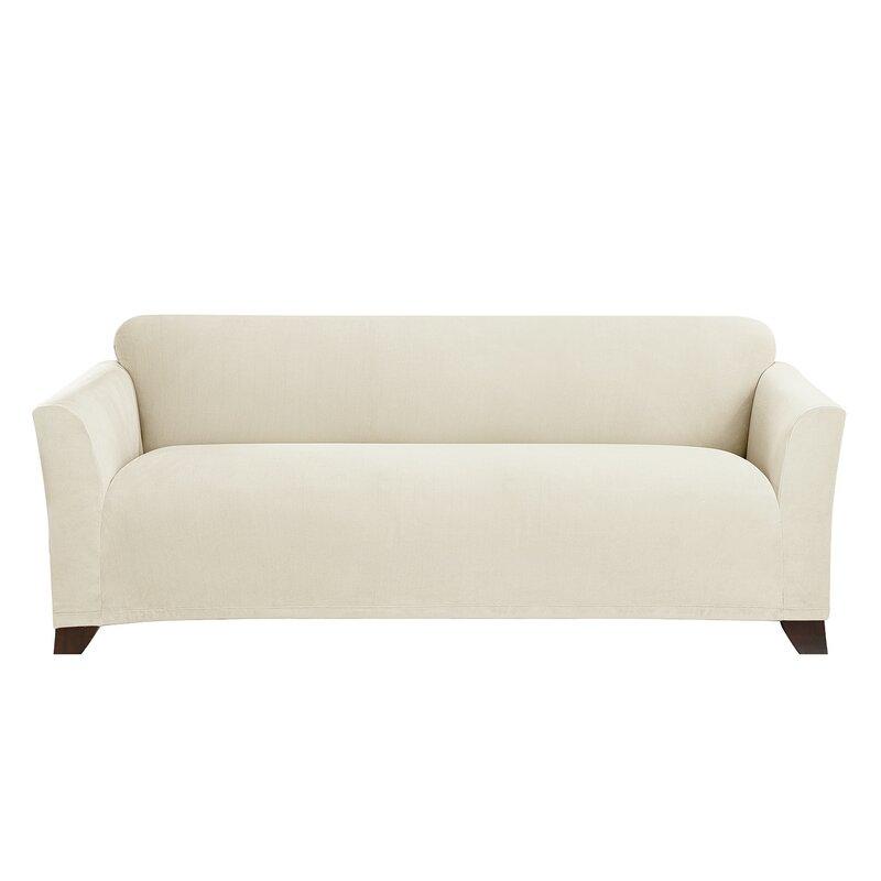 Stretch Morgan Box Cushion Sofa Slipcover