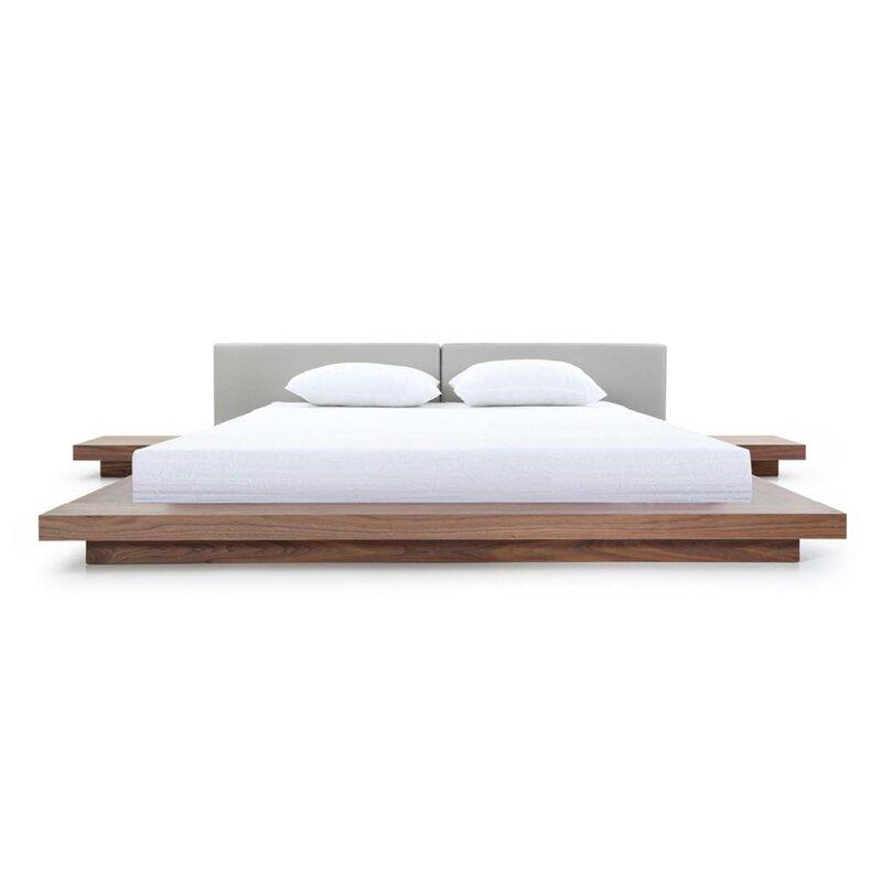 Carter upholstered Japanese platform bed