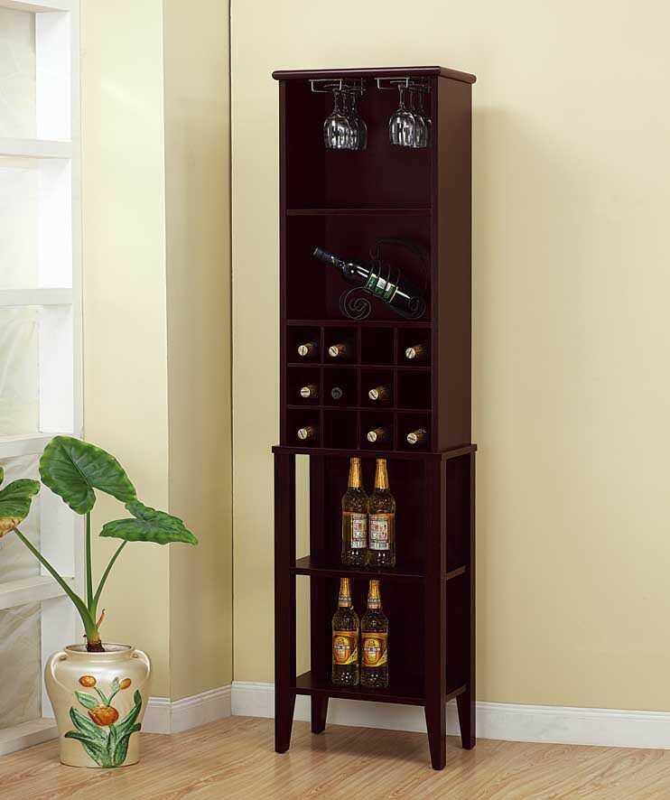Red Barrel Studio Croll 12 Bottle Floor Wine Bottle And Glass Rack Reviews Wayfair