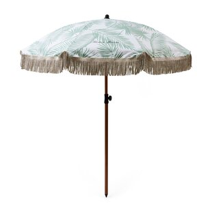Tropical Palm Leaf 1.8m Beach Parasol (Set Of 4) By Riviera Maison