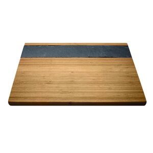 Bamboo and Slate Cheese Serving Tray