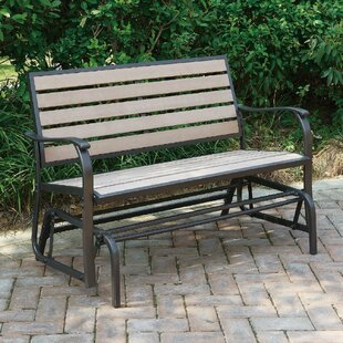 Wayzata Outdoor Wood Glider Bench
