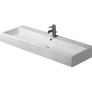 Compare Vero Ceramic 7 Wall Mount Bathroom Sink with Overflow By Duravit