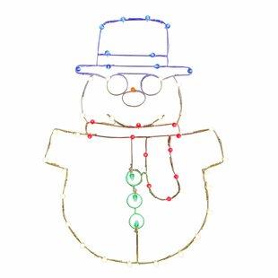 Vickerman LED Snowman C7 Wire Motif