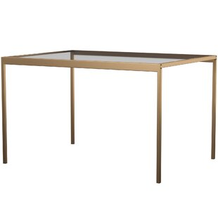 Wickliffe Glass and Metal Dining Table
