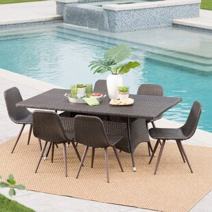 Binette Outdoor Wicker 7 Piece Dining Set..