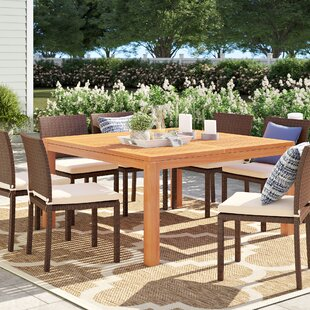 Brighton Square Wood Dining Table by Sol 72 Outdoor