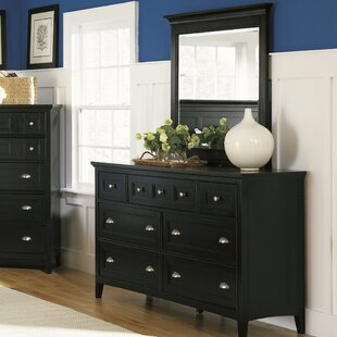 Janssen 7 Drawer Double Dresser with Mirror
