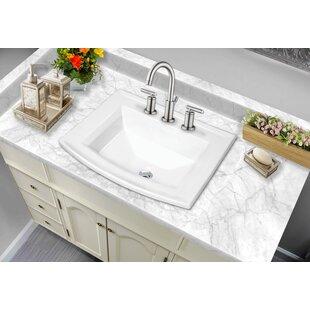 Soleil Rectangular Drop-In Bathroom Sink with Faucet