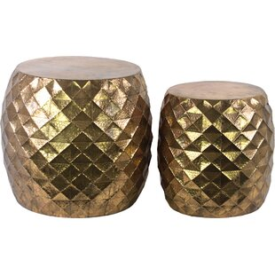 Adlai 2 Piece Nesting Tables by Bungalow Rose