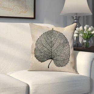 Miller Leaf Study Floral Throw Pillow