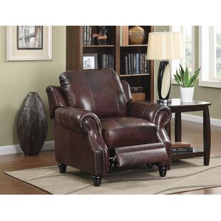 Hensley Leather Manual Rocker Recliner by Loon Peak