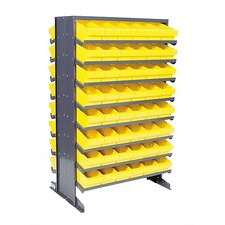 Double Sided Pick Rack Storage Systems with Various Euro Bins by Quantum Storage
