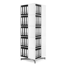 Cube Binder and File Carousel 75 H Five Shelf Shelving Unit by Moll