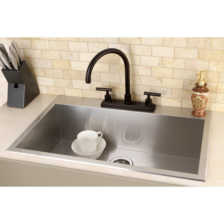 uptowne 315 x 205 self rimming single bowl kitchen sink - Brass Kitchen Sinks