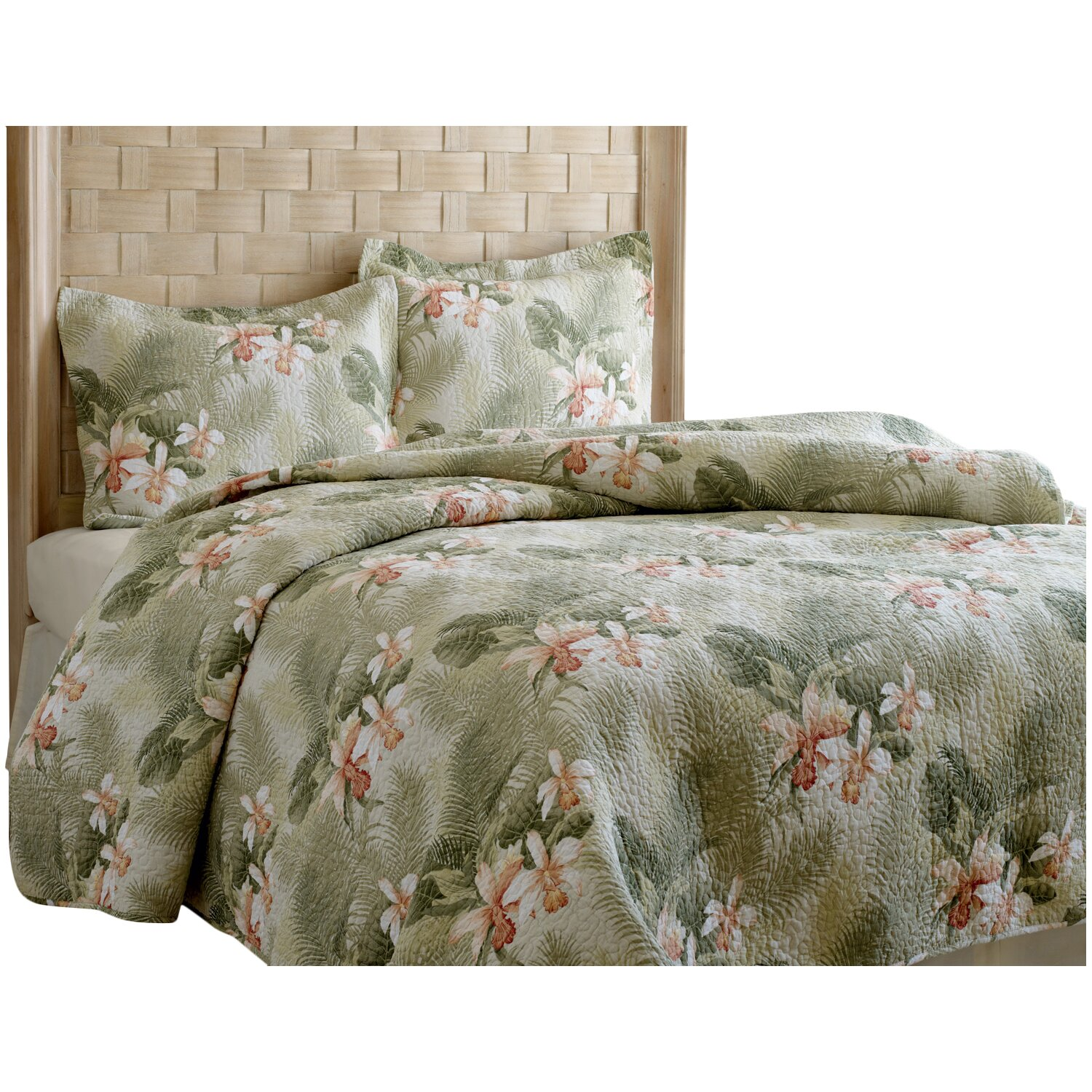 tropical orchid 3 piece reversible quilt set by tommy bahama bedding