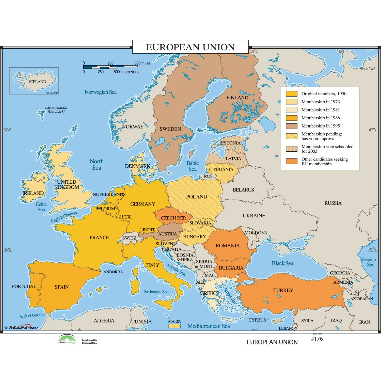 Universal Map World History Wall Maps - European Union | Wayfair