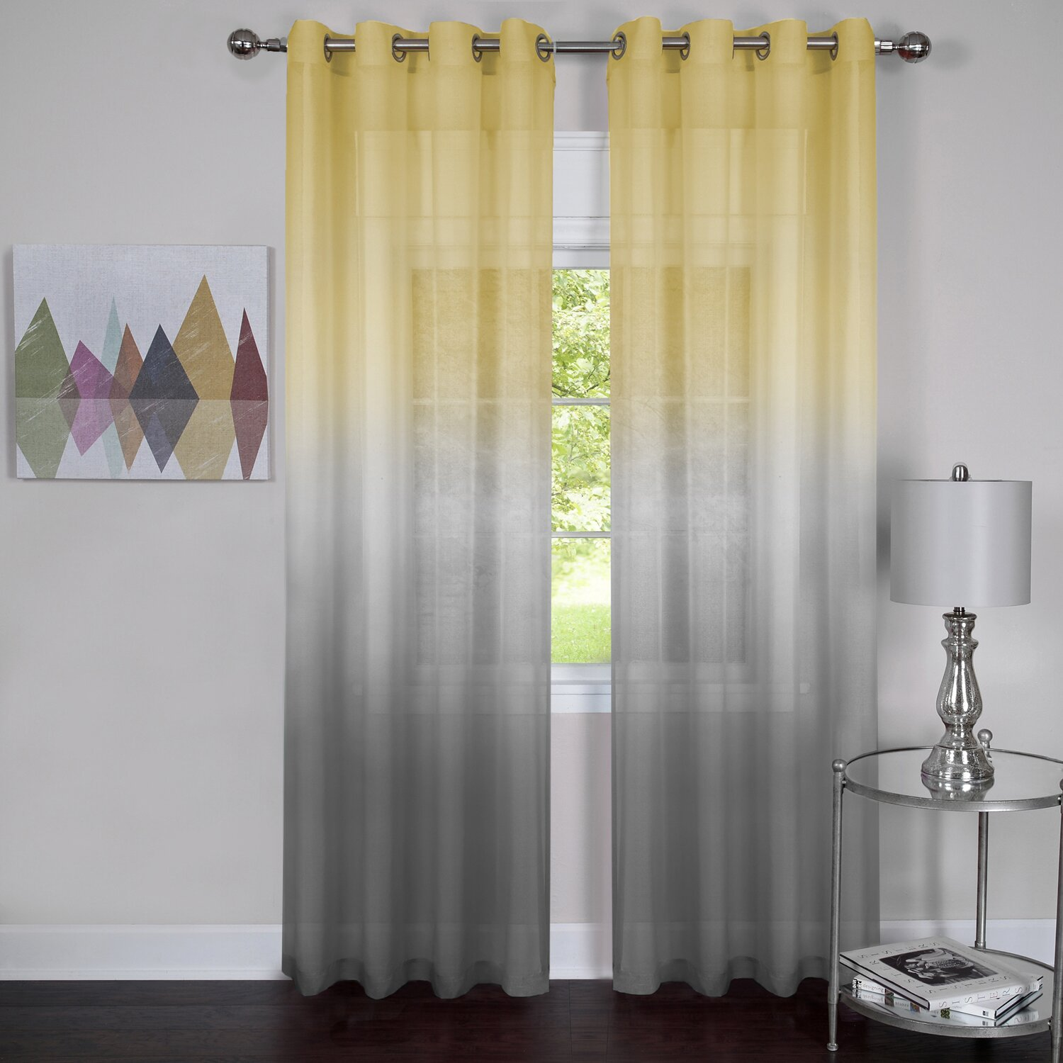 Achim Importing Co Rainbow Solid Sheer Curtain Panels Reviews
