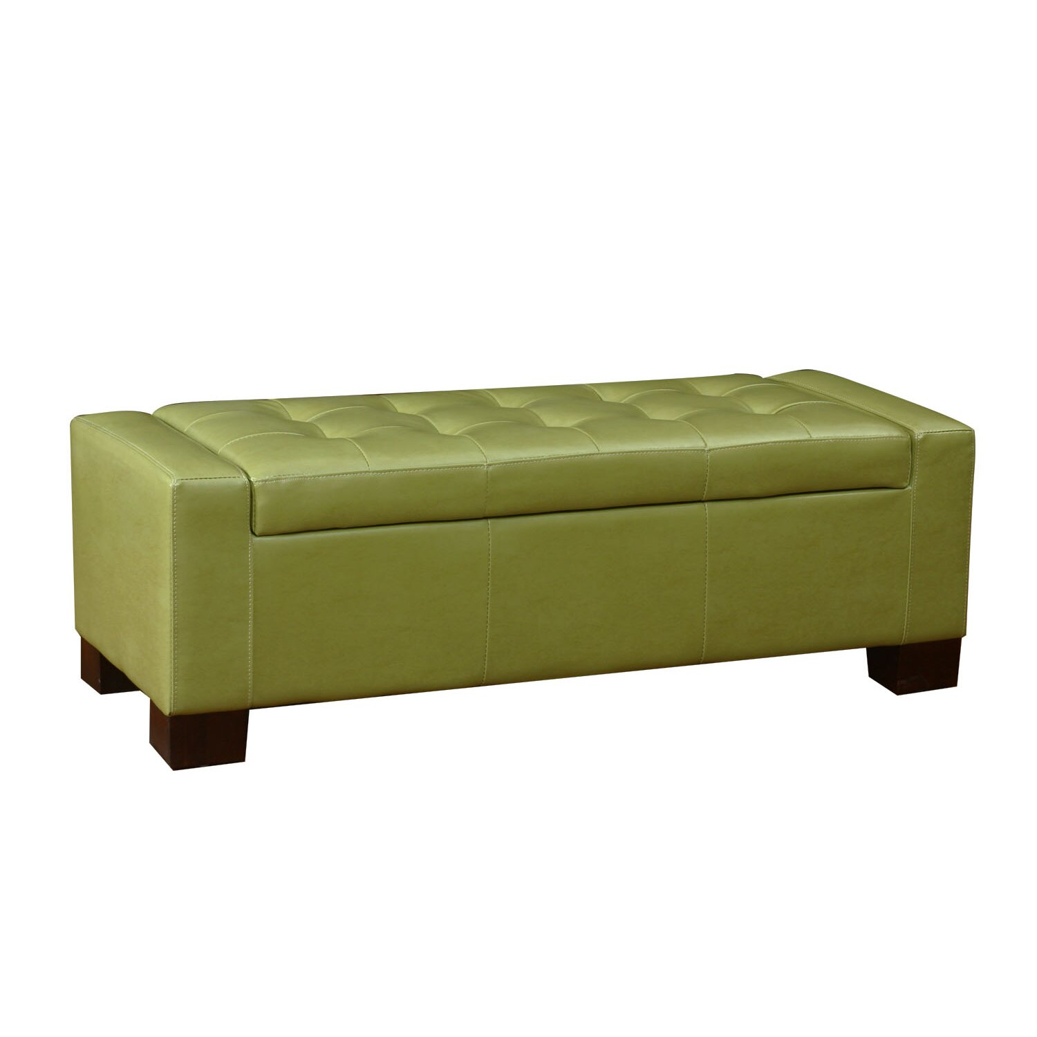 Large Accents Rectangular Tufted Storage Ottoman - AdecoTrading Large Accents Rectangular Tufted Storage Ottoman