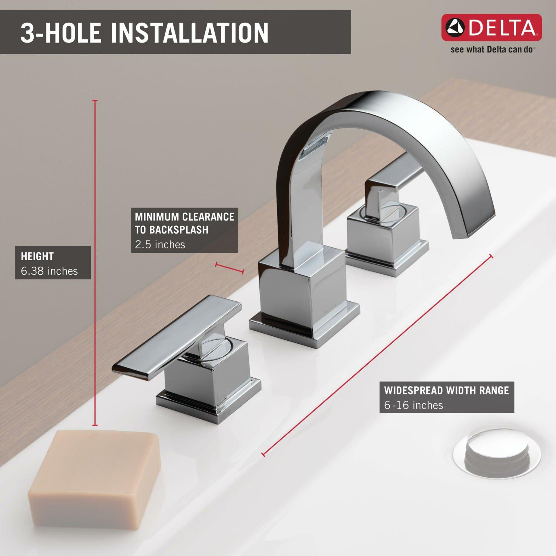 Delta Vero Chrome 2 Handle Bathroom Sink Faucet delta faucets