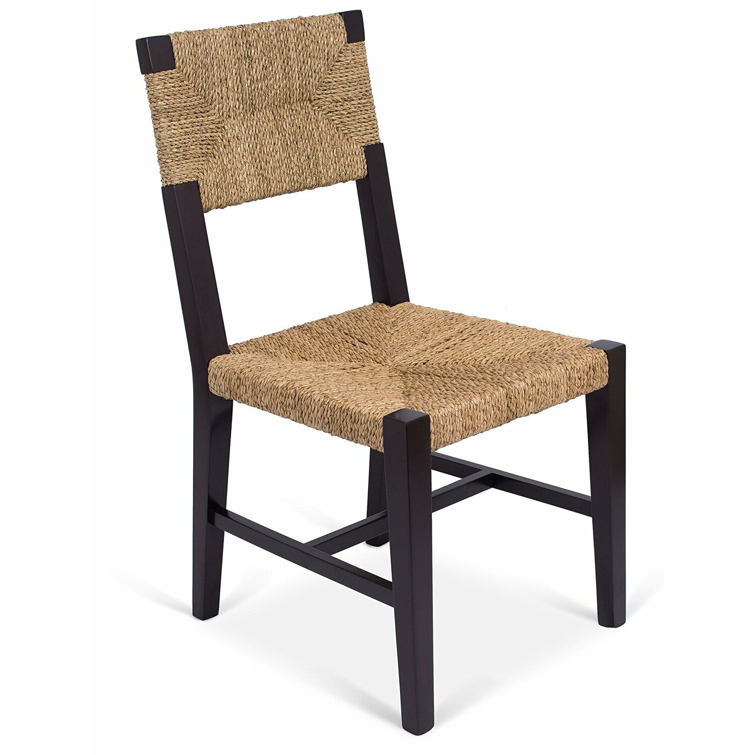 Birdrock home rush weave solid wood dining chair wayfair