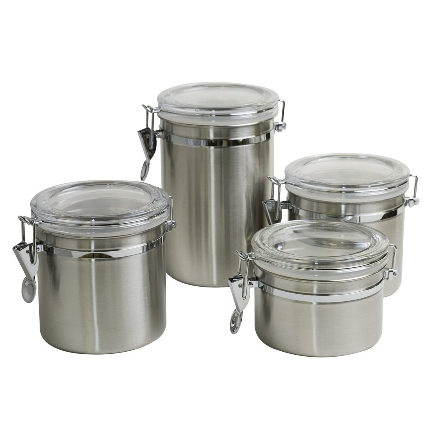 delighful kitchen canister sets stainless steel hocking black