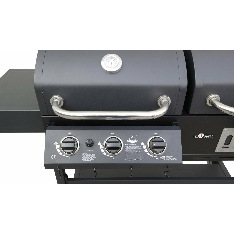 home loft concept 195 cm gas holzkohle kombigrill cherokee mit 2 garkammern. Black Bedroom Furniture Sets. Home Design Ideas