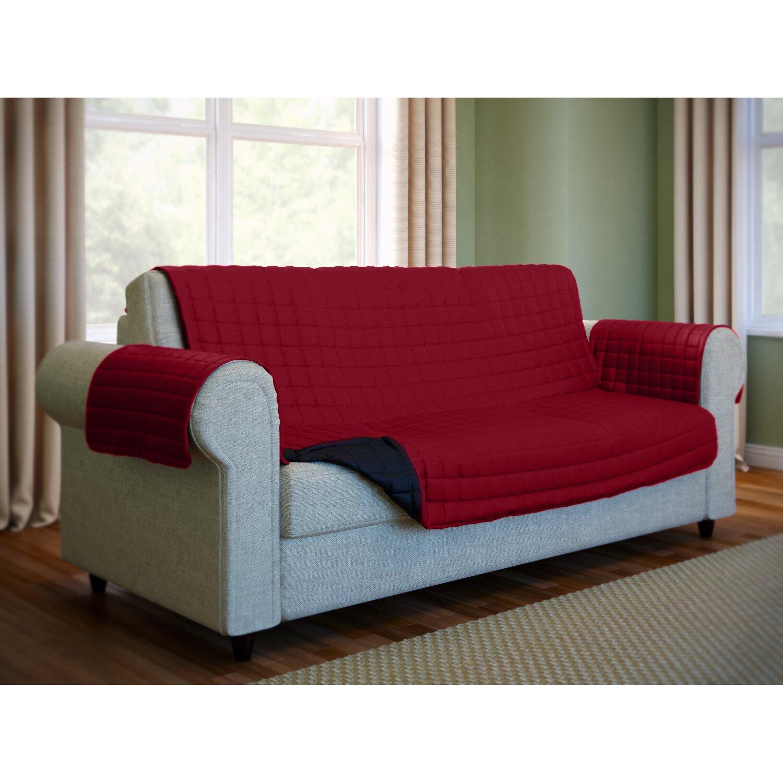 wayfair basics wayfair basics microfiber sofa slipcover. Black Bedroom Furniture Sets. Home Design Ideas