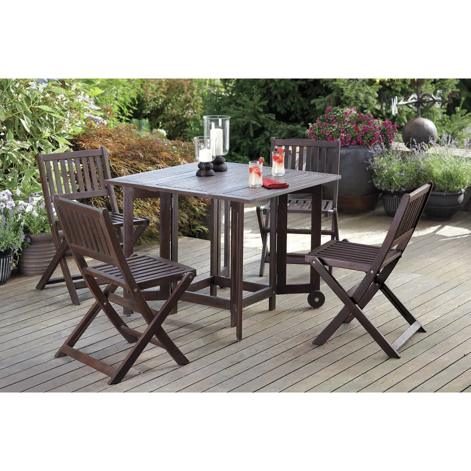 Merry Products Eucalyptus Folding Dining Side Chair & Reviews ...