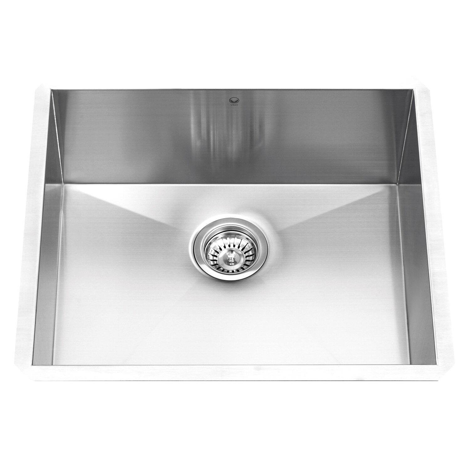 23 inch undermount single bowl 16 gauge stainless steel kitchen sink - Stainless Steel Kitchen Sink Gauge