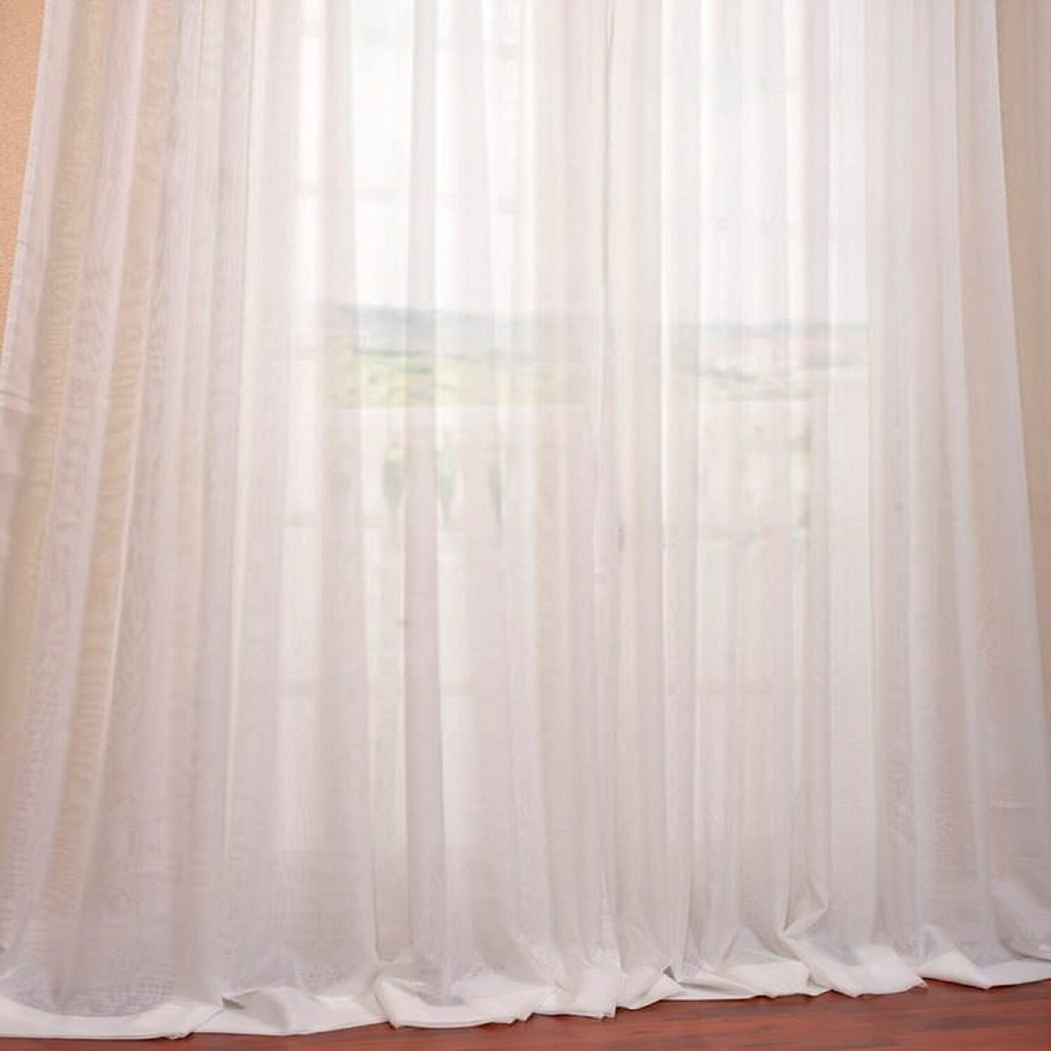 Alcott Hill Apollo Solid Semi Sheer Pinch Pleat Single Curtain Panel Reviews