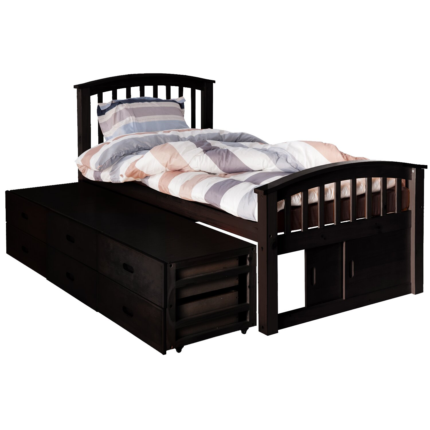 Twin platform bed with drawers - Merax Solid Wood Storage Twin Platform Bed With Drawers
