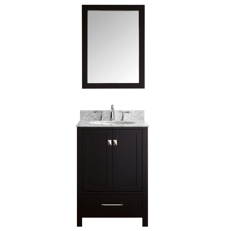 Brayden studio pichardo contemporary 24 single bathroom vanity set reviews - Linden modern bathroom vanity set ...