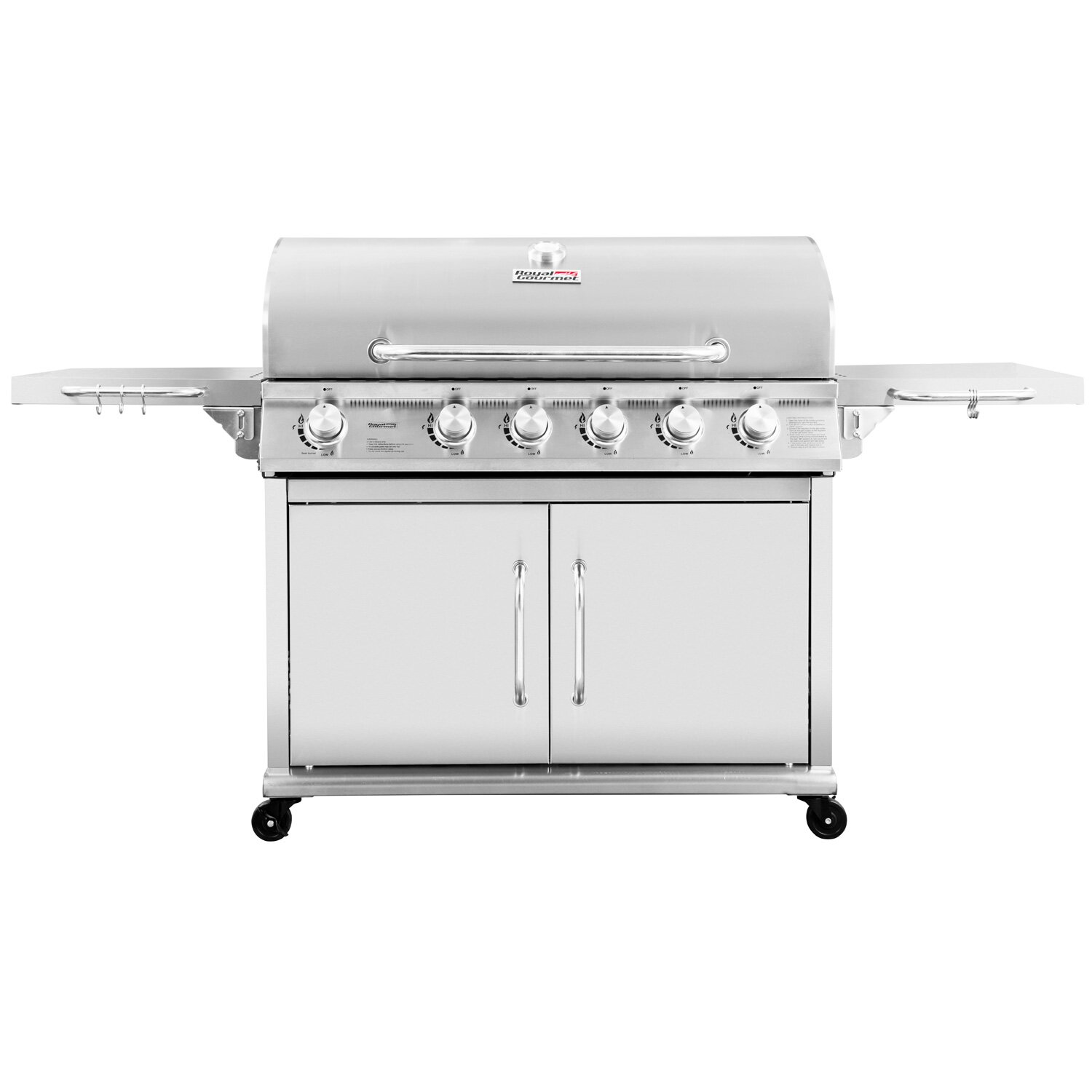 Grill Cabinet: Royal Gourmet 6-Burner Propane Gas Grill With Cabinet