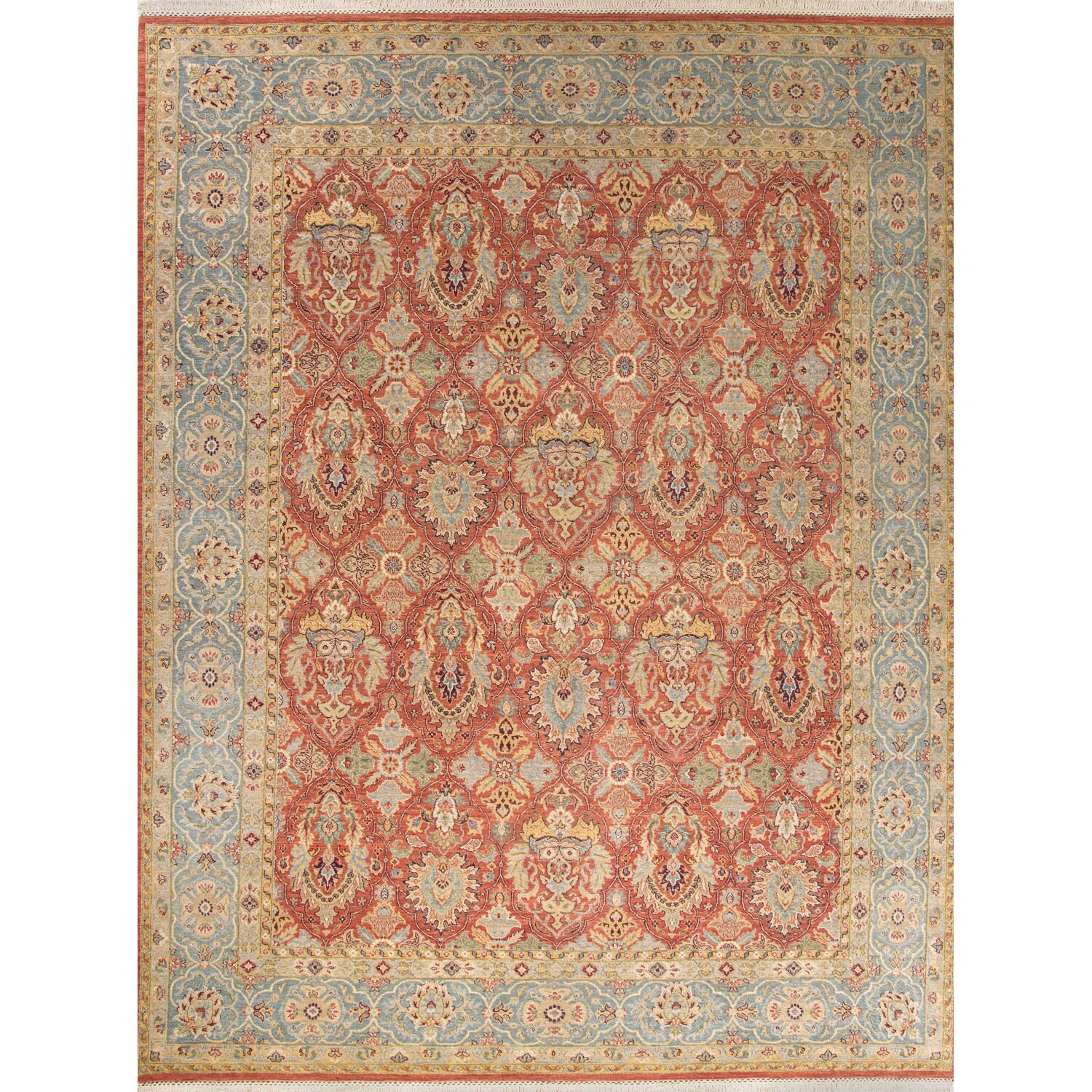 Bloomsbury market cerise hand knotted red blue area rug for Red and blue area rug