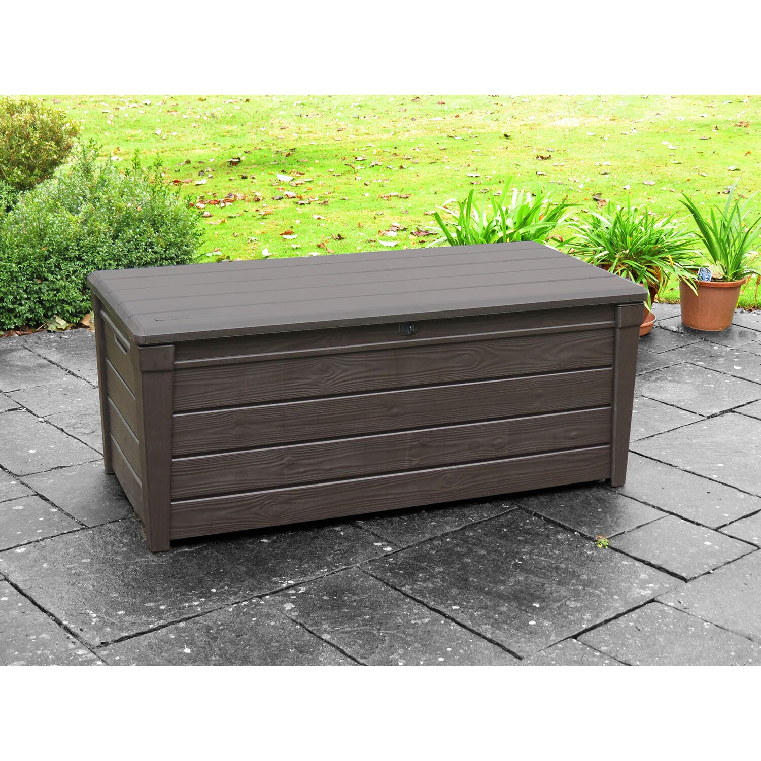 Keter Brightwood 120 Gallon Plastic Deck Box Amp Reviews