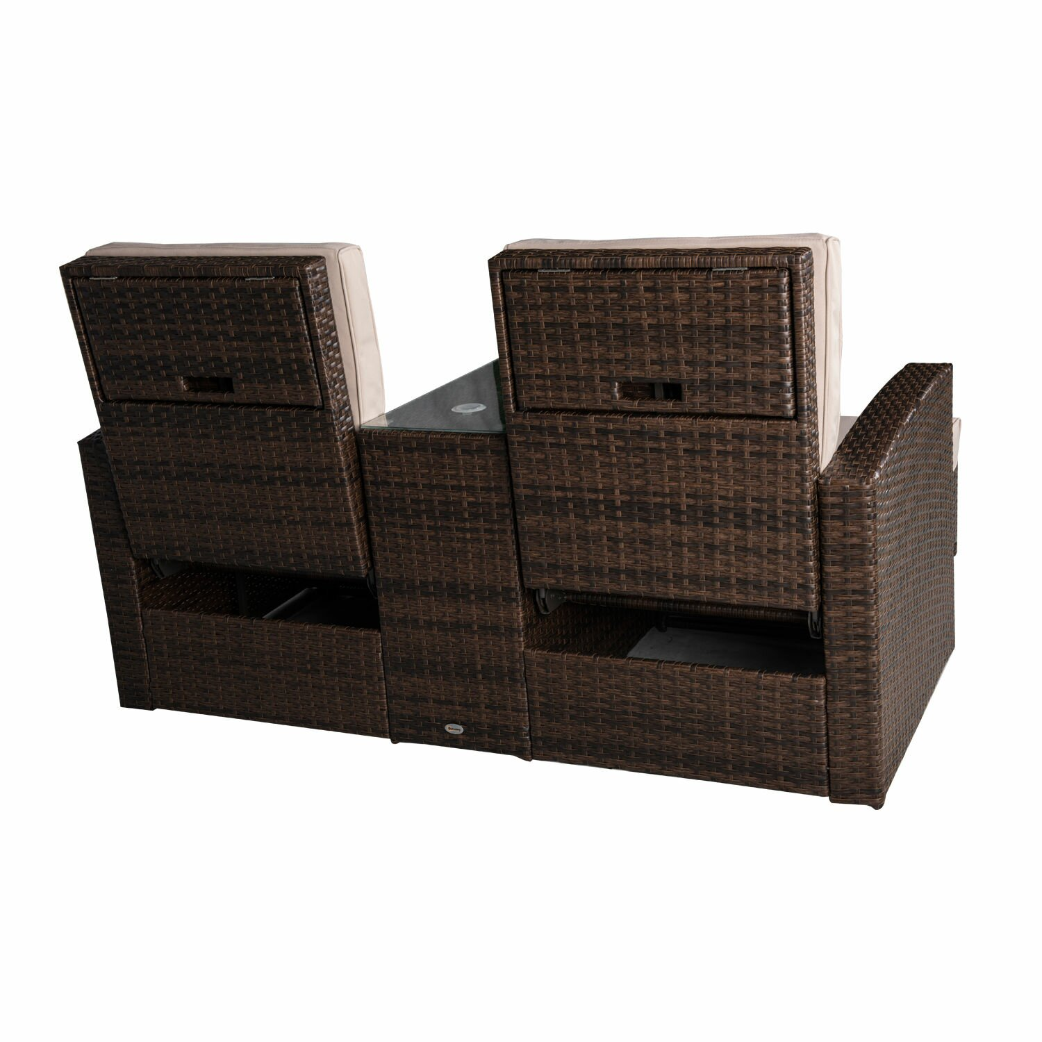 Darby Home Co Americana 3 Piece Outdoor Rattan Wicker ...