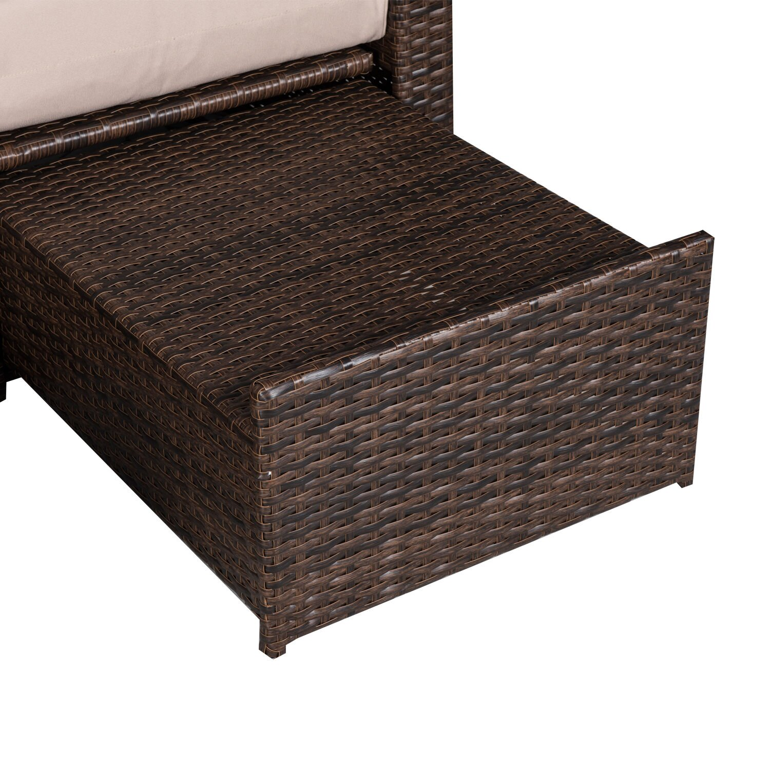 Darby Home Co Americana 3 Piece Outdoor Rattan Wicker Chaise Lounge