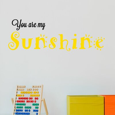 DecaltheWalls You Are My Sunshine Wall Decal Wayfairca - Wall decals you are my sunshine