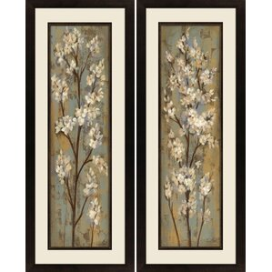 u0027almond branchu0027 2 piece rectangle framed painting print set u0027